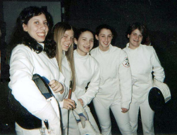 Some female fencers who participated in the End of the Season Blow-Out Tournament